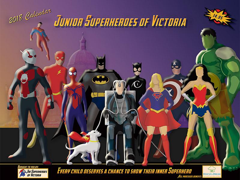 Order Your 2018 Junior Superhero Calendar | Help Fill a Dream